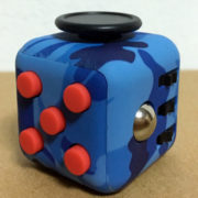 Fidget Cube Dark Camo Blue Red
