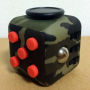 Fidget Cube Dark Camo Green Red