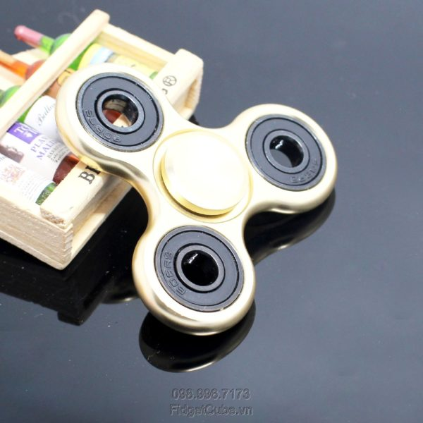 Tri-Wing Spinner Metal Fidget Spinner Gold