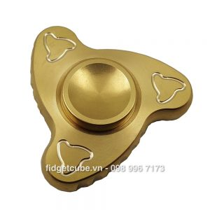 Boomerang Mini Spinner 3 Cánh - Full Brass