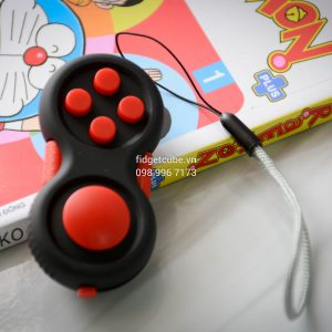 Fidget Pad - Black Red
