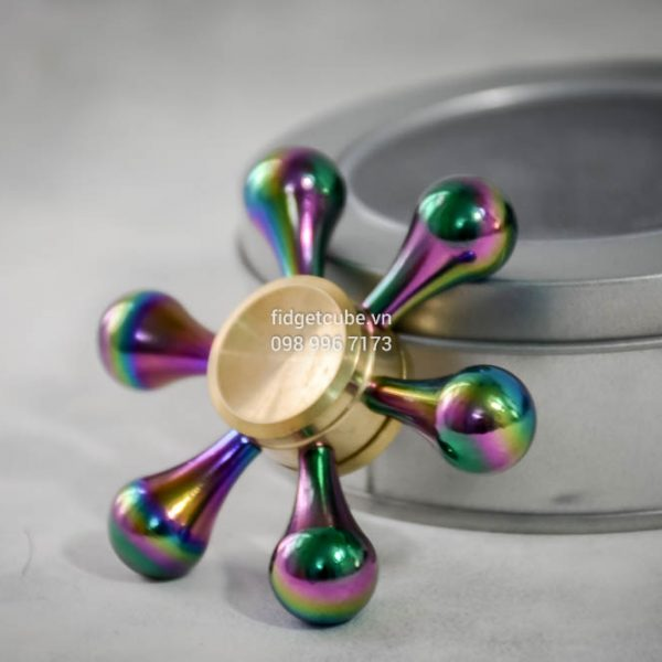 Molecule Spinner Brass Rainbow Chinh Hang (2)