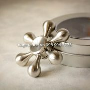 Molecule Spinner Stainless Steel Silver - 6 Cánh