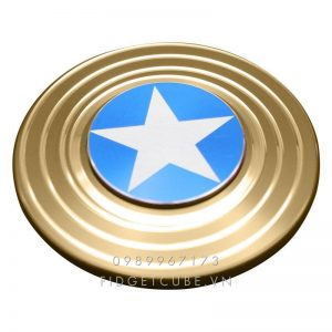 Captain America Fidget Spinner - Gold