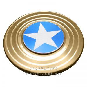 Captain America Fidget Spinner - Gold