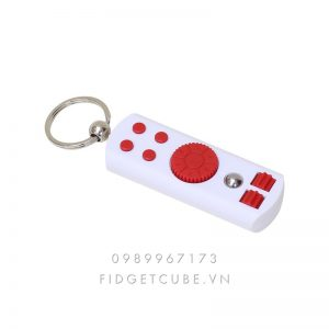 Fidget Remote Spinner - White Red