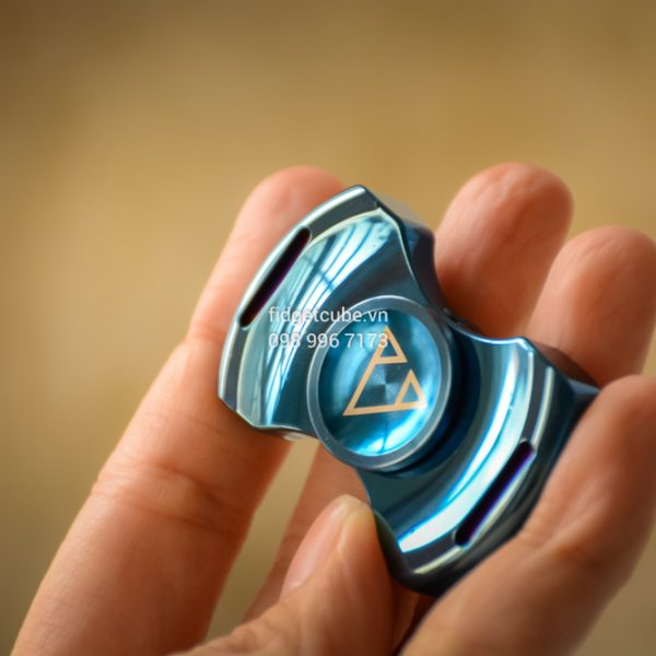 PCC Stubby Spinner Stainless Steel Blue (1)