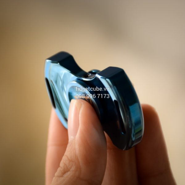 PCC Stubby Spinner Stainless Steel Blue (5)