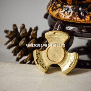 RM Stubby Fidget Spinner 3 Cánh - MAYA Brass