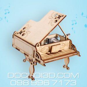 Bộ Lắp Ráp Đàn Piano Gỗ + Hộp Nhạc