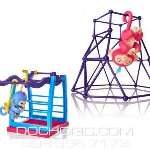 Bộ 2 Finger Monkey Playset: Xà Treo + Gym
