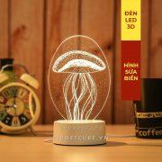 Đèn Ngủ LED 3D - Hình Sứa Biển