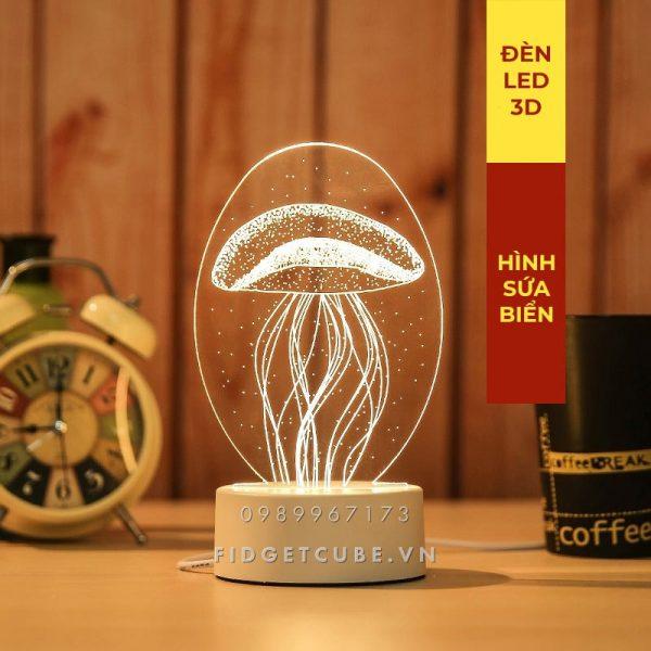 Đèn Ngủ LED 3D – Hình Sứa Biển