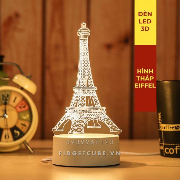 Đèn Ngủ LED 3D 16 Màu Remote – Hình Tháp Eiffel