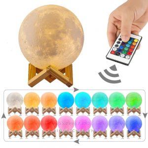 Đèn Mặt Trăng LED 16 Màu Điều Khiển Remote - 20cm