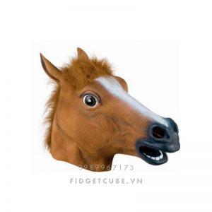 Mặt Nạ Đầu Ngựa Đen/Nâu/Trắng - Đầu Ngựa Hóa Trang Haloween