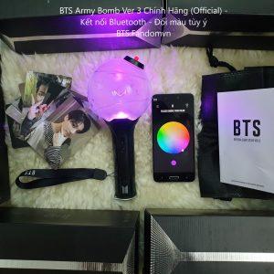 BTS Army Bomb Ver 3 Official (Chính Hãng) - Có Bluetooth