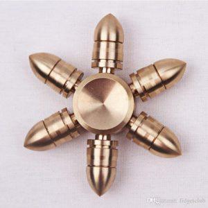 Molecule Spinner Brass - 6 Cánh Vỏ Đạn Ngắn