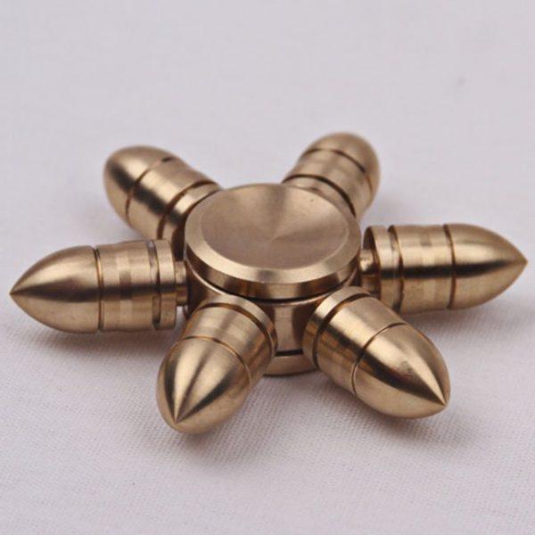 Molecule Spinner Brass – 6 Cánh Vỏ Đạn Ngắn