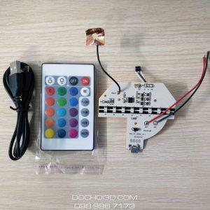 Bo Mạch Cho Đế Đèn LED 3D 16 Màu Kèm Cáp và Remote